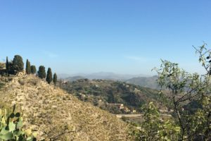 view from Monte Santa Venere, Sicily