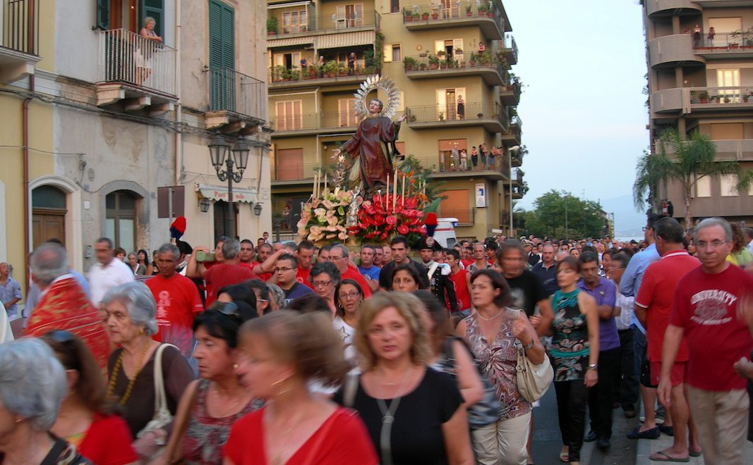 The 'vara' is carried through the streets
