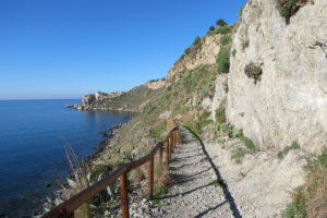 Walking at the Capo Milazzo