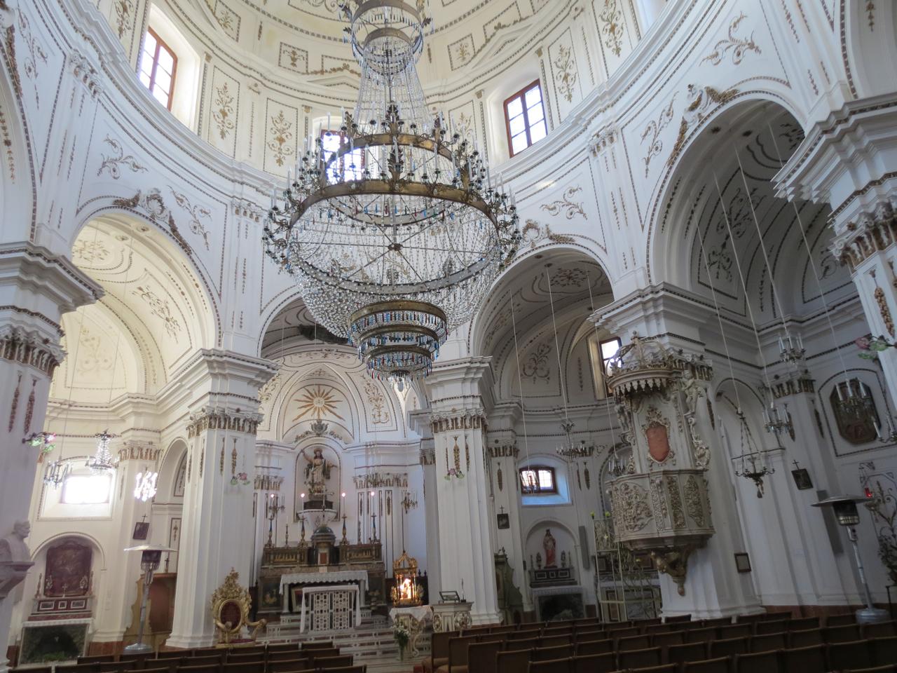 Interior of the church of San Salvatore, Petralia Soprana, Sicily