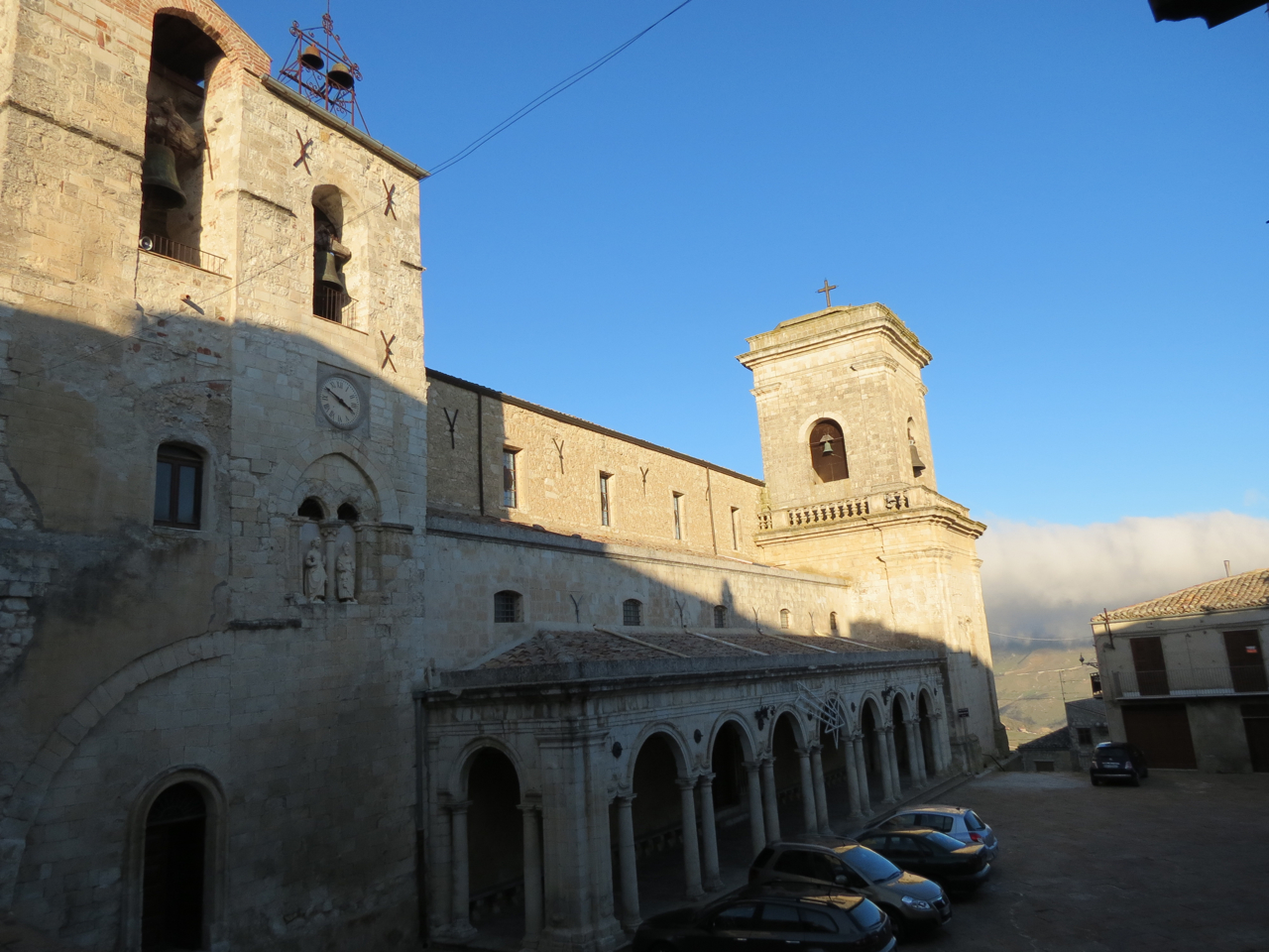 Exterior of the church of the Apostles Peter and Paul, Petralia Soprana, Madonie, Sicily