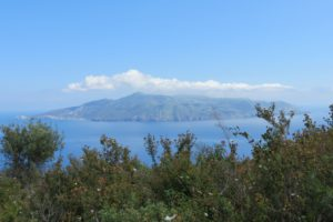 Island of Lipari seen from Salina, Aeolian islands