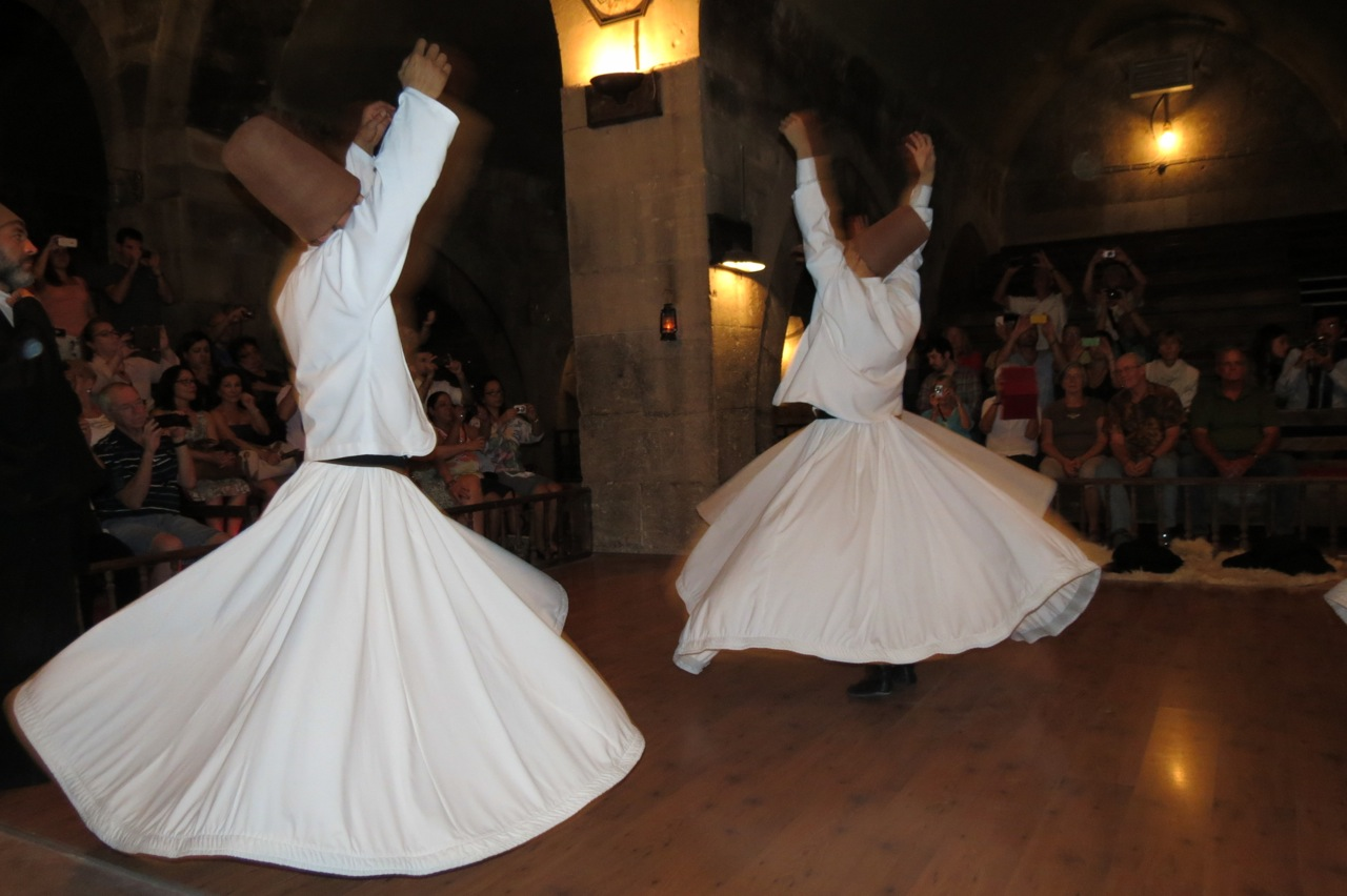A dervish ceremony in Cappadocia, Turkey