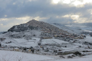 Gangi in the snow