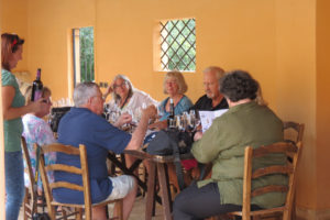Winetasting at the Ulmo winery, Planeta