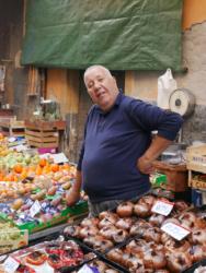 The market in Catania