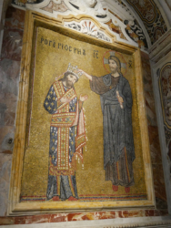 Depiction of King Roger II in the Martorana church