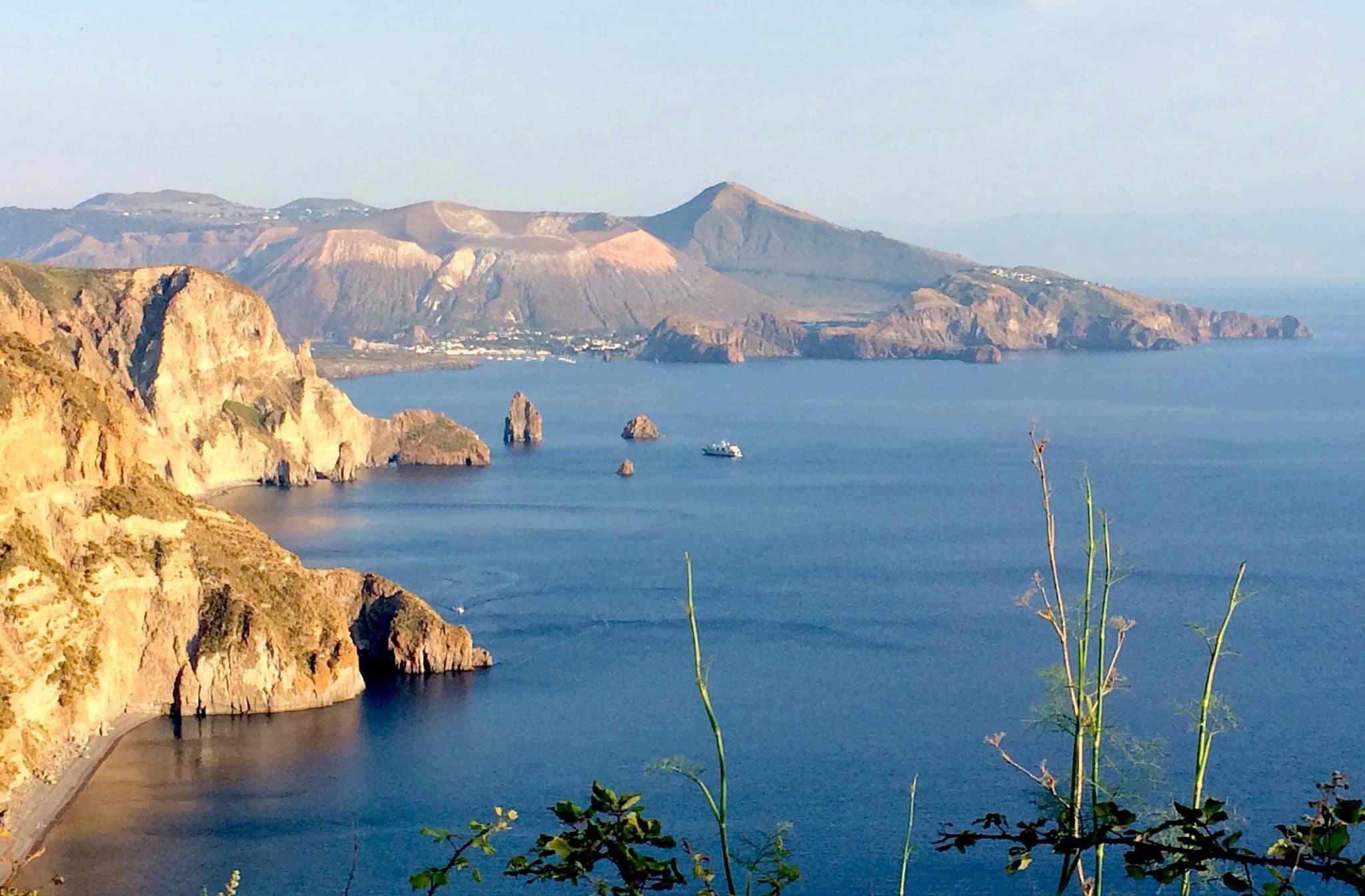 Vulcano island from Lipari