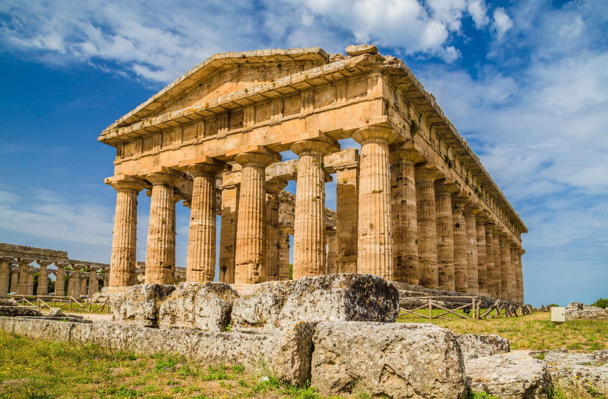 The temple of Hera at Paestum