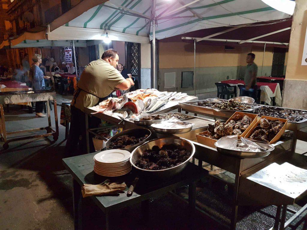 Street restaurant in Palermo