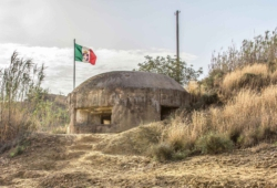 One of the bunkers at Ponte Dirillo