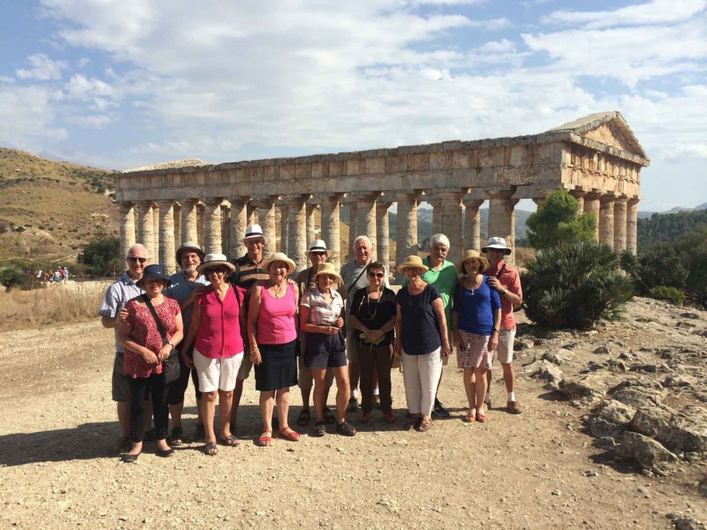 On of our groups at the temple of Segesta