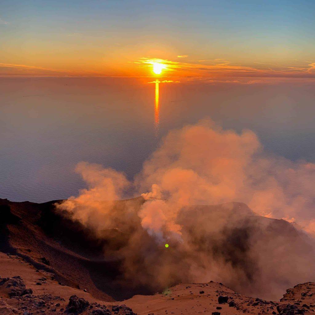 Sunset from Stromboli