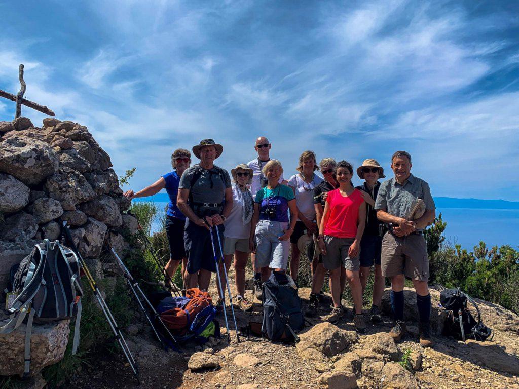 Group on the top of Monte Fossa delle Felci Salina