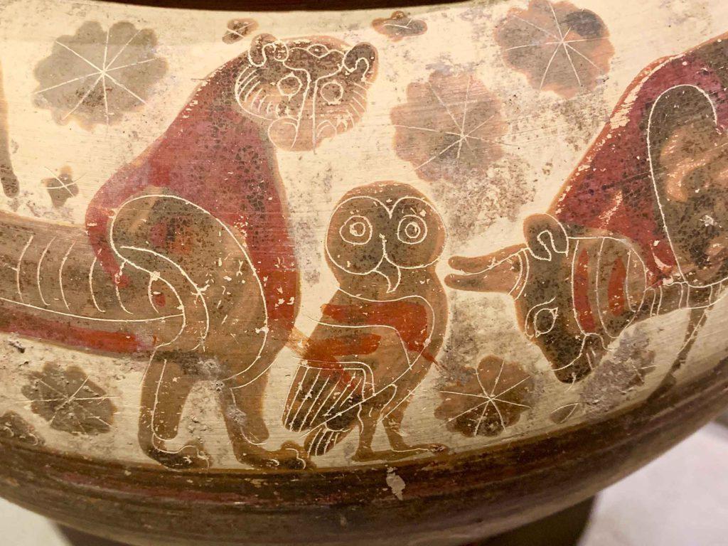 Vase in corinth museum