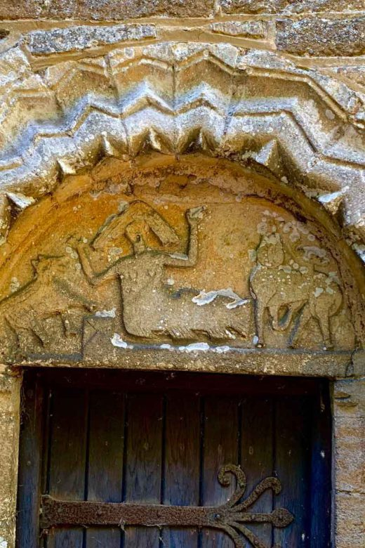 The tympanum on Stow Longa church
