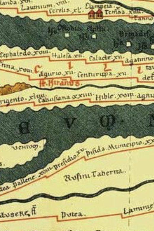 Tabula Peutingeriana of Sicily